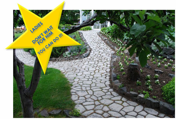 Paving Concrete Mold Walkway Stones Mould Garden Patio Driveway Pathmate  Pavement