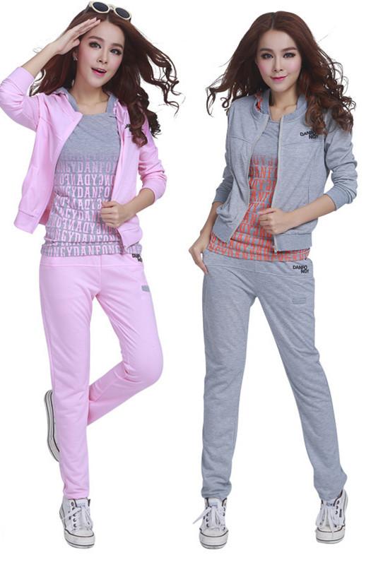 e124ec8df438f Get Quotations · Fashion Sport Tracksuits Jogging Suits for Women 2015 New  Women 3 Piece Sets Coat+Tops