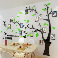 high quality 3d acrylic photo frame memory tree decoration living room sofa restaurant 3D wall stickers decor