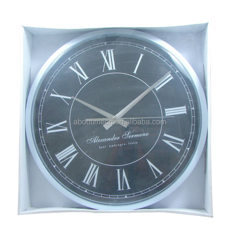 2014 Popular cheap antique plastic wall clock for gifts grandfather