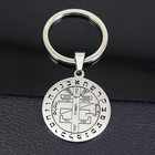 Color Never Fade Engrave Key Of Solomon Pendant Stainless Steel Unisex Jewelry Keychain YP6717