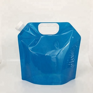 5L bpa free plastic foldable reusable collapsible water bag