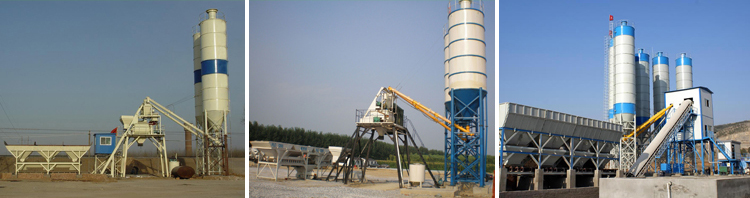 HZS60 fixed precast wet mix concrete batching plant germany