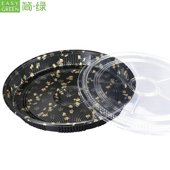 Easy Green Big Size Round Party Tray With Clear Lid