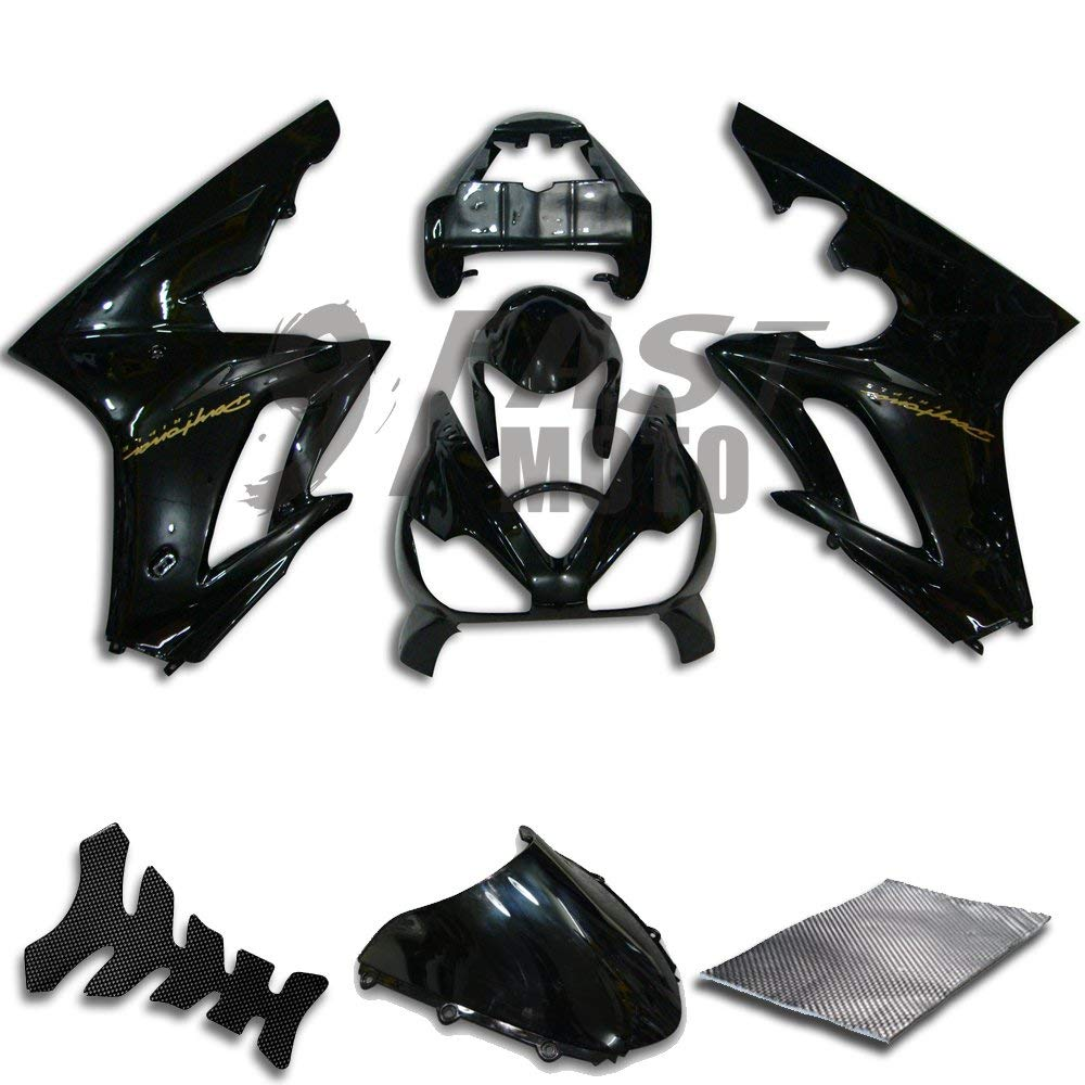 Color:Red /& Black ZXMOTO Painted Fairing Kits for HONDA CBR 600RR 2003-2004 Aftermarket Motorcycle Fairings