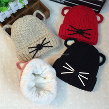 New Cute Baby Cartoon Cat Hat Newborn Infant Boy Girl Beanies Soft Cotton Caps Infant 15#