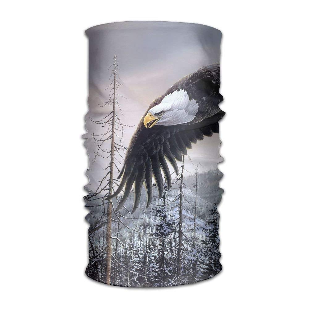 Feesoz Magic Headwear Bald Eagle Outdoor Scarf Headbands Bandana Mask Neck Gaiter Head Wrap Mask Sweatband