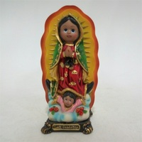 Religious resin cute cartoon our Lady of Mexico for souvenir