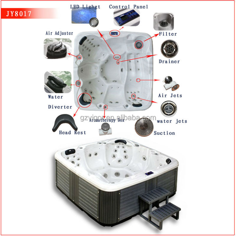 Newest 150 jets deluxe TV outdoor spa for 6 persons spare part