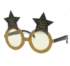 Happy New Year Star Glasses Photo booth Props Novelty Festival Party Supplies Decoration