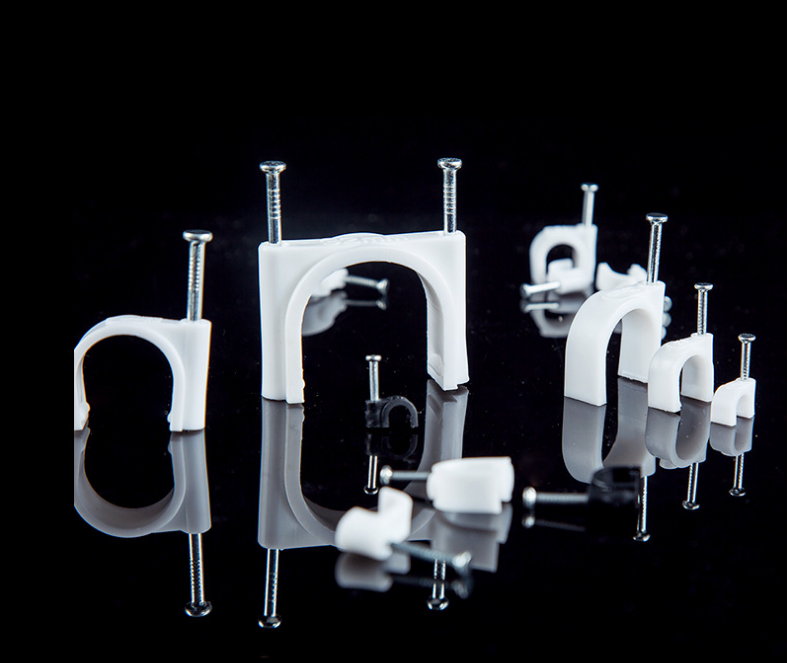 Plastic Circle cable clips,Nail clips,wire cable clamp