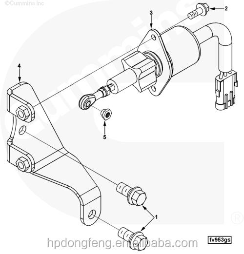 Fuel Shut Off Valve 6743 81 91406d114 Solenoid Assy24v Solenoid