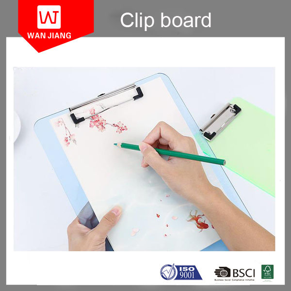 Pvc Plastic A3 Folding Clipboard Transparent A4 Clipboard With Metal Clip