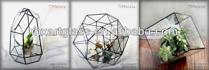 Mx131427 Wholesale Tiffany Style Stained Glass Terrarium Necklace