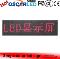 Durable in use Outdoor single color led sign in Shenzhen Oscarled