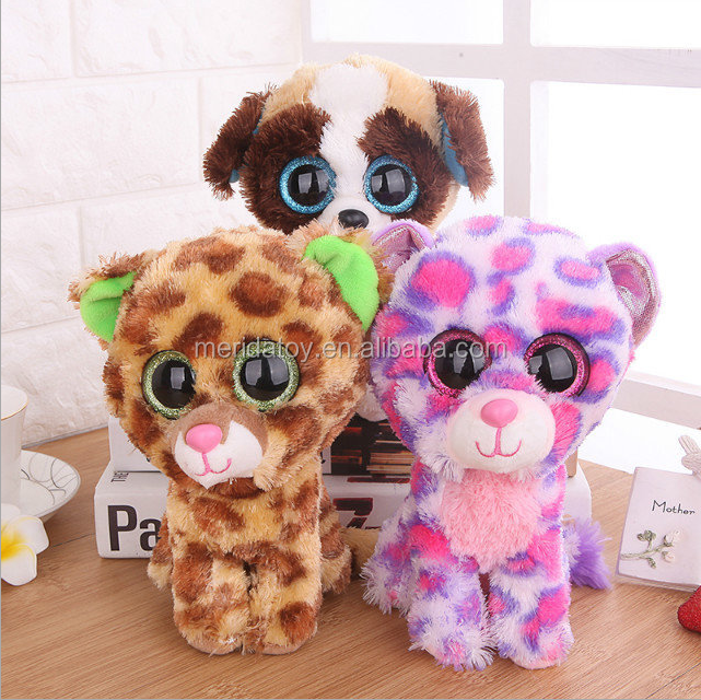 Wholesale Custom Multi Choice Cute Animals Stuffed Plush Big Eyes Beanie Boos Toys For Kids