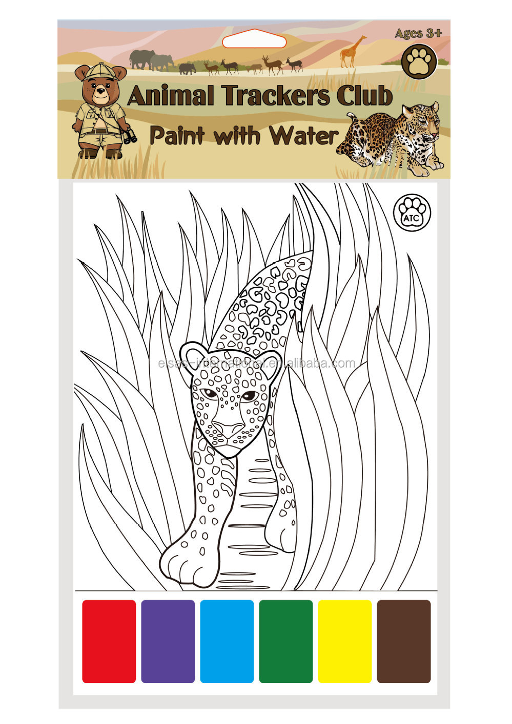kids color filling bookkids magic painting book