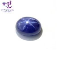 Factory Price Oval Cabochon Blue Star Sapphire