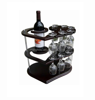 Wooden Wine Rack With Glass Holder Buy Wine Bottle Display Rack