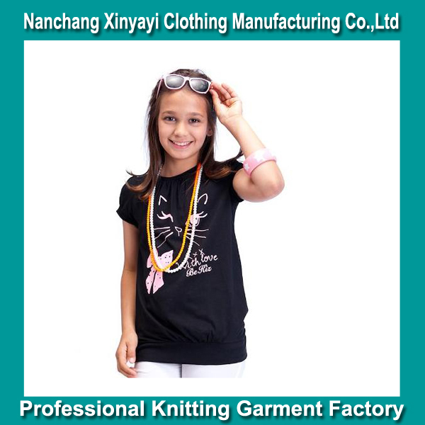 2014 the newest design 100% cotton kids clothes Print the cute CAT/clothing suppliers china /chinese clothing suppliers