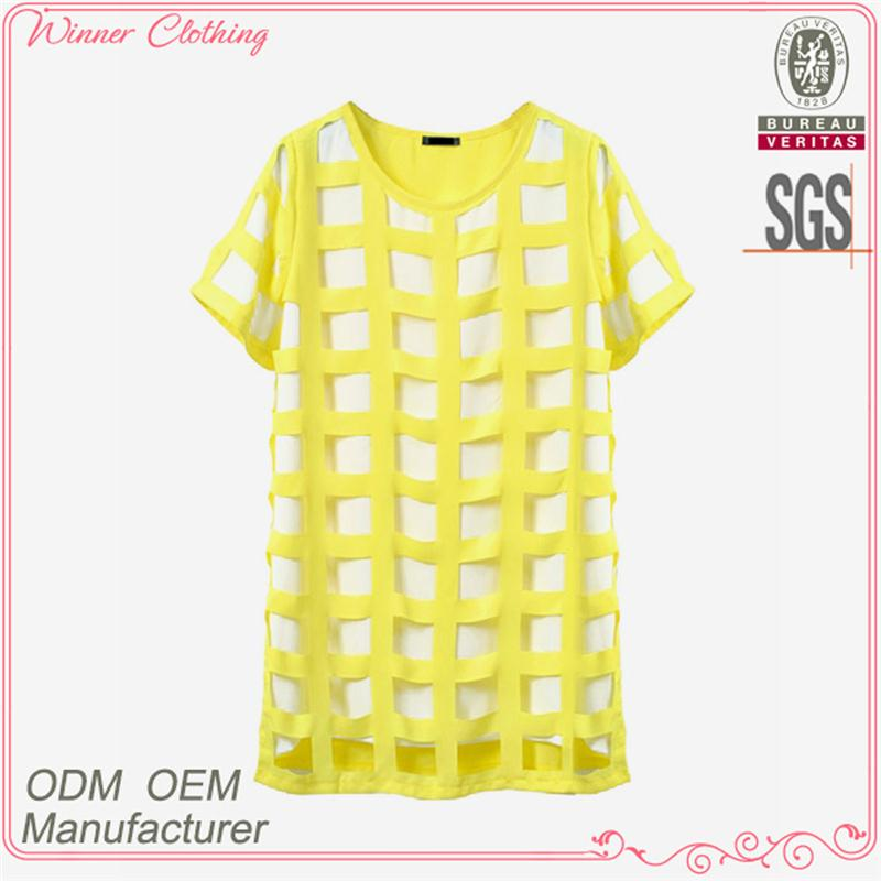 Hot selling women's clothing garment apparel direct factory OEM/ODM manufacturing short sleeve korea fashion blouse