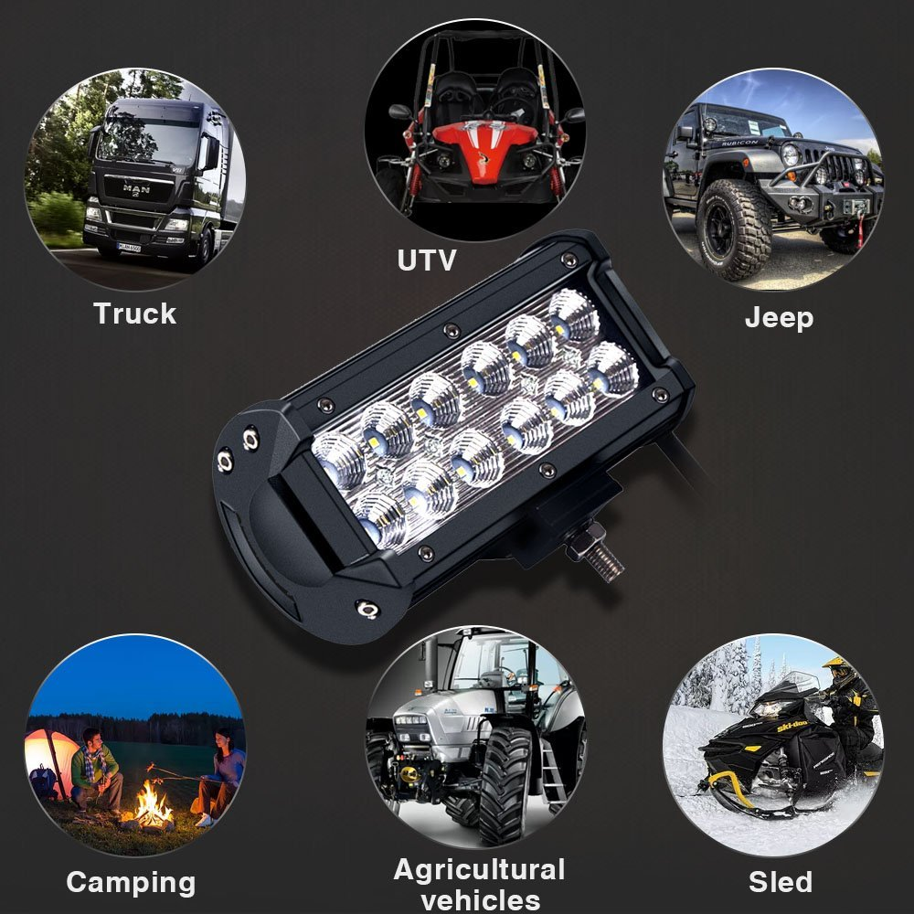 4 7 12 17 inch 18W 36W 72W 108W LED car Light Bar 12V 24v Motorcycle Tractor Boat Off Road 4WD 4x4 Truck SUV ATV LED Work Light