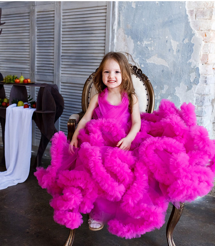 Cloud little flower girls dresses for weddings Baby Party frocks sexy children images Dress kids prom dresses evening gowns 2016 8