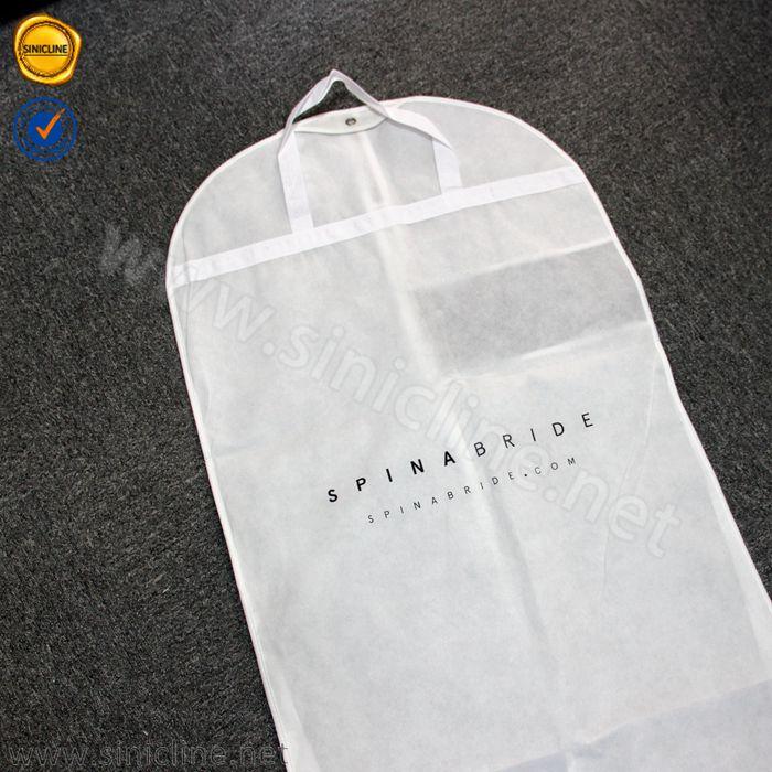 Sinicline siyah logo baskılı özel 80gsm olmayan dokuma gelinlik elbise çantası toptan