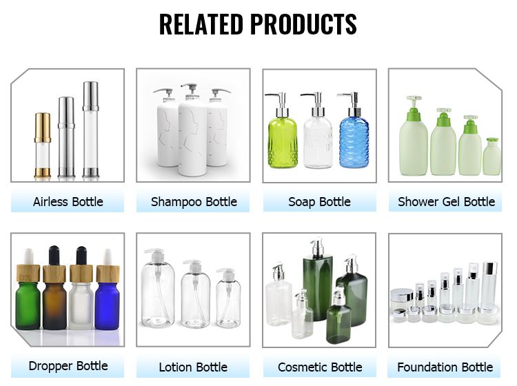 Custom luxury 400ml rectangular plastic shampoo bottle with caps and pump