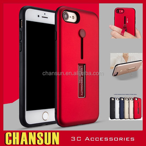 2017 newest finger ring kickstand TPU pc shockproof phone case for iphone 7