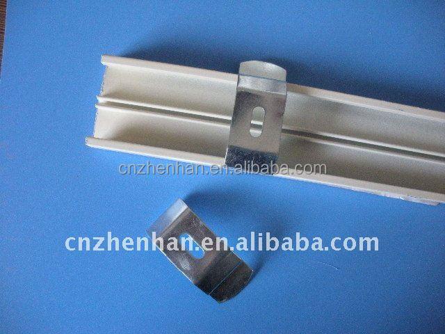 metall vorhang halterung aluminium vorhangschiene und decke clips f r vertikallamellen. Black Bedroom Furniture Sets. Home Design Ideas