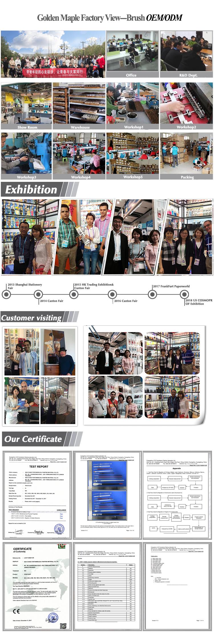 Hot bán 12Pcs Chuyên Nghiệp nguồn cung cấp nghệ thuật Sơn Bàn Chải thiết lập đối Acrylic Màu Nước Sơn Dầu
