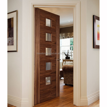 Forest Bright 5 Panel Interior Office Wood Door With Glass Buy
