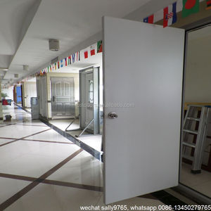flat PVC laminated metal door with wooden jamb