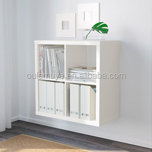 Shelving Unit 77*77cm White Birch Effect Black-brown Oak material