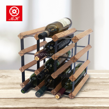 Easy Assembly Bordex Style Australian 12 Bottle Stained Timber Wood