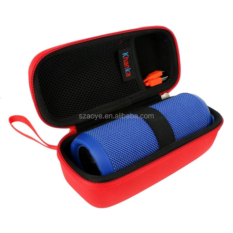Hard Shell Protective Travel Case for Bluetooth Speaker. s USB Cable and accessorieFits(Red)
