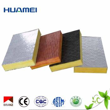 Nice quality glass wool board with 100 sticker FSK fireproof aluminum foil