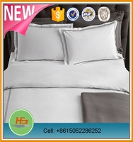 Hotel White 300 Thread Count Cotton Embroidered Percale Sheet Sets
