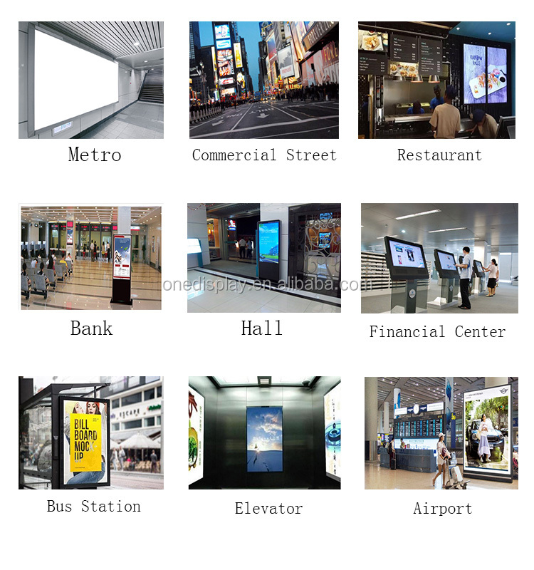 "55"" super-thin digital signage marketing digital screen double side standing"