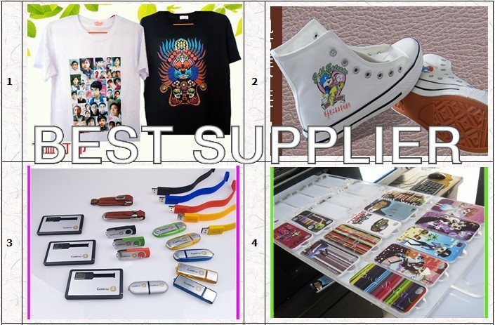 T- shirt oplossing- worldbest a4inkjet flatbed printer multifunctionele digitale t- shirt printer- onlin- met rip-software acro