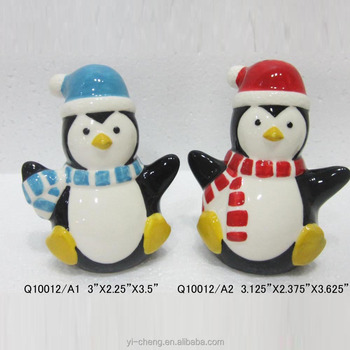2017 Christmas Table Gift Funny Ceramic Penguin Decoration - Buy ...