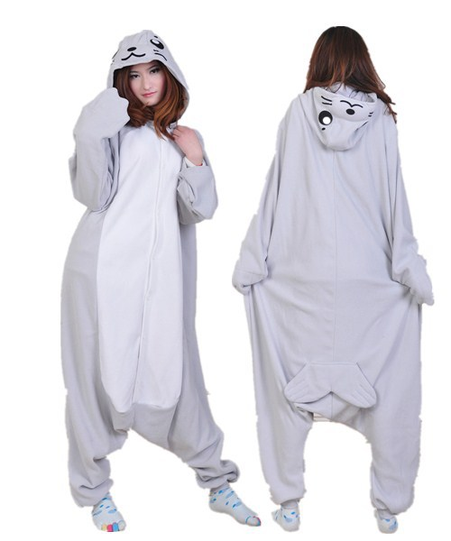 Get Quotations · New Arrival One Piece Kawaii Cute Polar Fleece Seal Winter  Animal Pajama Onesie Costume Pyjamas Cosplay a22870deb