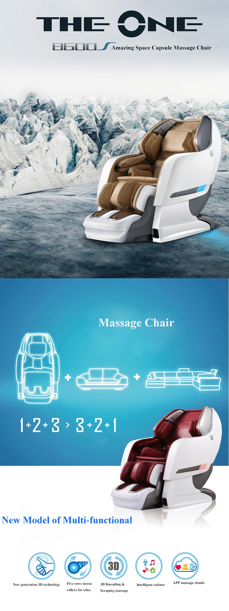 China Deluxe SEX Recliner 3D Massage Chair/ Shiatsu Zero Gravity Massage  Chair