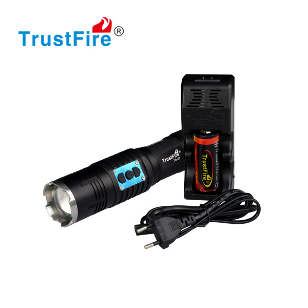 TrustFire Z7 factory original <strong>cree</strong> xml-2 LED 550lm zoom led flashlight/zoomable led torch