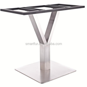 Captivating MARBLE TOP Y SHAPE STAINLESS STEEL TABLE LEGS WHOLESALE DINING TABLE BASE