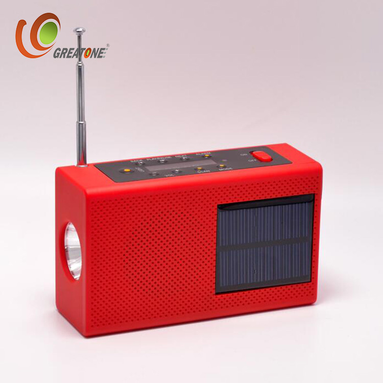 MSD/TF card MP3 player with FM radio+solar+hand crank+charger+flashlight+USB+bluetooth Speaker