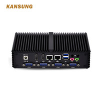 Kansung Mini PC K4200YP6 With Core i5 Processor,Dual Lan, 6*USB Multiple serial-port RS-232 Fanless X86 POS Computer