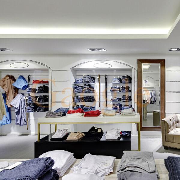 OEM garment shop interior design clothing store furniture garment ...