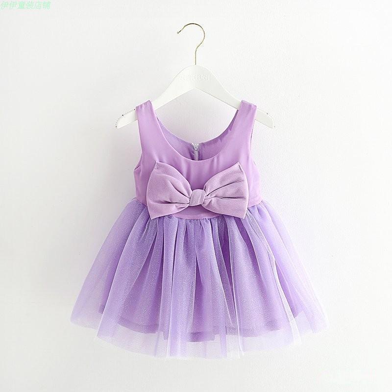 d033dba08a01 Get Quotations · Hot sale new girls dress boutique bow Korean children s  clothing sleeveless summer dress children Princess party